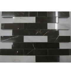 Bianca Luminous & Pietra Grey Interlocking Mosaic Limestone - Polished
