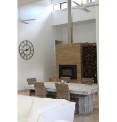 Travertine Noce Brown Tiles - Vein Cut - Epoxy Filled & Honed
