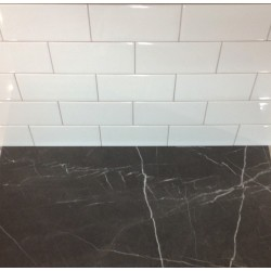 Gloss White Ceramic Subway Tile