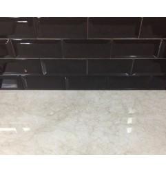 Gloss Black Ceramic Subwayh Tiles|Bevelled Edge|Australia Series