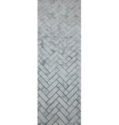 Carrara Herringbone Mosaic|Honed