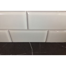 Gloss Silver Ceramic Subway Tiles|Semi Round|Australia Series
