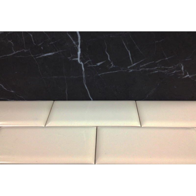 Gloss Cream Ceramic Subway Tiles|Semi Round|Australia Series