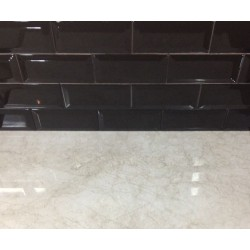 Spanish Gloss Black Ceramic Subway Tiles|Non-Rectified