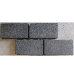 Cobblestone Diamond Black Flamed Granite Sheeted