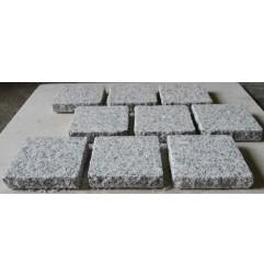 Cobblestone Diamond White Flamed Granite Sheeted-G603