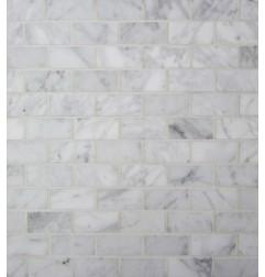 Carrara Brickbond Mosaic|Honed