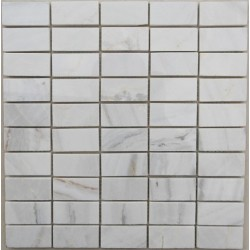 Bianco Luminous Limestone Brick - Polished - Mosaic