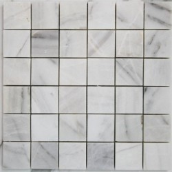 Bianca Luminous Polished Marble Mosaic 50x50