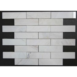 Bianca Luminous Interlocking Polished Marble Mosaic 150x40
