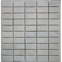 Bianca Luminous Tumbled Marble Mosaic 60x30
