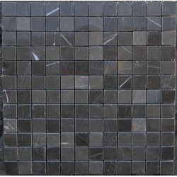 Pietra Grey Polished Limestone Mosaic 24x24