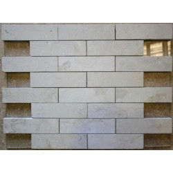 New Botticino Interlocking Honed Marble Mosaic 150x40