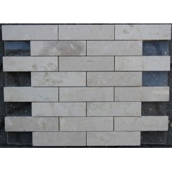 New Botticino Interlocking Polished Marble Mosaic 150x40