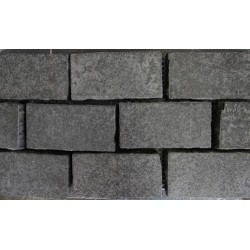 Diamond Black Flamed Brick Pattern Cobblestone Granite 200x100