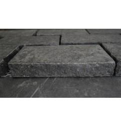 Cobblestone Diamond Black Flamed Granite|Brick Pattern| Sheeted