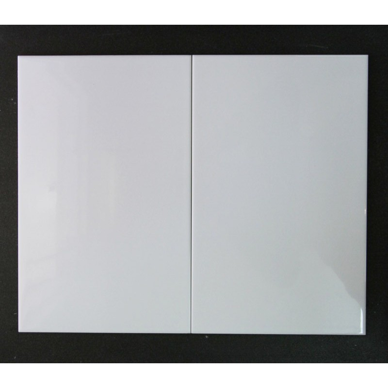 Non-Rectified Gloss White Ceramic Wall Tiles