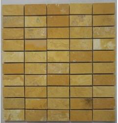 Travertine Giallo - Epoxy Filled & Polished|60x30