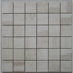 Chiaro Filled Polished Travertine Mosaic 50x50