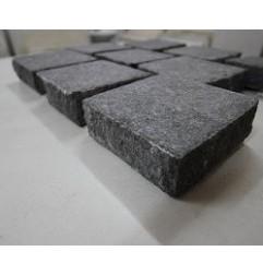 Cobblestone Diamond Black Flamed Granite Sheeted|G684
