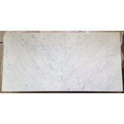 Bianco Carrara C Italian Marble Tile - Polished