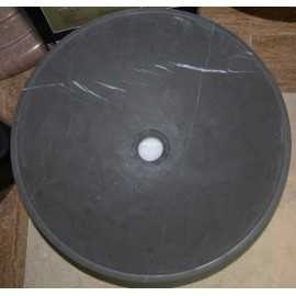 Pietra Grey Honed Round Basin Limestone