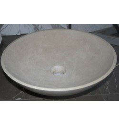 Natural Stone Gohera Basins Limestone - Round Basin - Honed