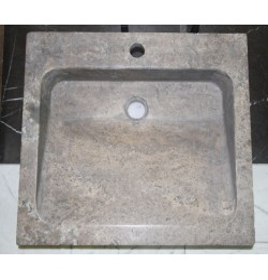 Natural Stone Multi Grey Basins Travertine - Rectangle Basin - Honed