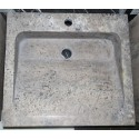 Natural Stone Multi Grey Basins Travertine - Rectangle Basin - Honed