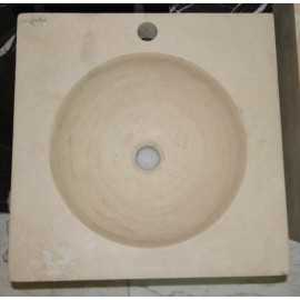 Classico Honed Square Round Basin Travertine