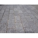 Cobblestone Diamond Black Flamed Granite|Brick Pattern| Sheeted