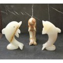 Dolphin Onyx Carved