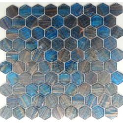 Mosaic Corp Ferrara Hexagon Italian Glass Mosaic Tiles
