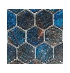 Ferrara Hexagon - Italian Glass Mosaics Pool Tiles|On Plus System