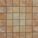 Travertine Giallo Filled Honed Mosaic