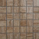 Travertine Noce Veincut Filled Polished Mosaic