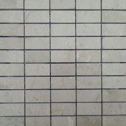 New Botticino Honed Marble Mosaic