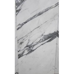 Calacatta Statuario Satin Marble with Porcelain Back