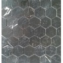 Nero Marquina Hexagon Honed Marble Mosaic