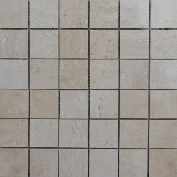 Classico Filled Polished Travertine Mosaic 50x50
