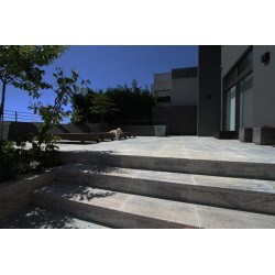 Travertine Multicolour Grey Paver - Vein Cut - Tumbled