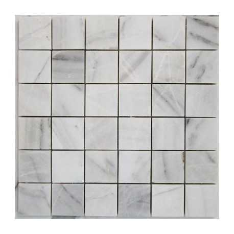 Bianca Luminous Marble Mosaic|Polished|50x50|Sheeted