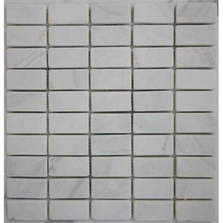 Bianca Luminous Marble Mosaic| Tumbled| 60x30