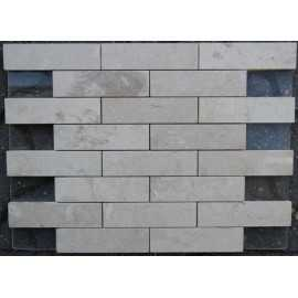New Botticino Polished Interlocking Marble Mosaic 150x40
