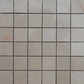 Royal Botticino Polished Marble Mosaic 50x50