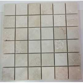 Travertine Classico Filled Honed Mosaic 50x50