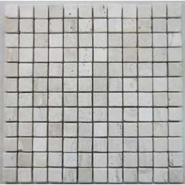 Silk Tumbled Travertine Mosaic 23x23