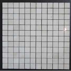 Travertine Chiaro Filled Polished Mosaic 23x23