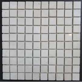 Chiaro Filled Polished Travertine Mosaic 27x27