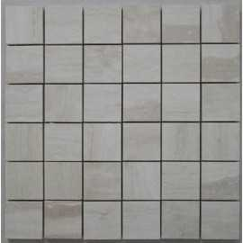 Travertine Chiaro Mosaic - Cross Cut - Epoxy Filled & Honed 50x50